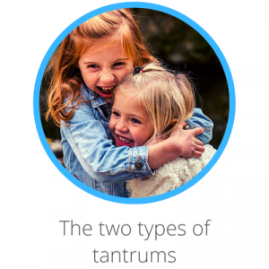 The two types of tantrums Contents page. Toddlers cuddling and smiling