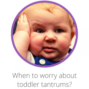 When to worry about toddler tantrums? Contents page. Toddler looking worried