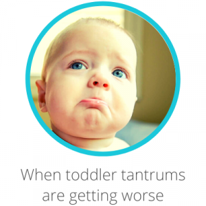 When toddler tantrums are getting worse Contents page. Toddler with bottom lip poking out